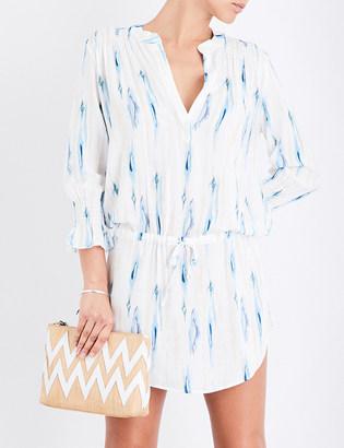 Heidi Klein Ravello woven tunic dress $255 thestylecure.com