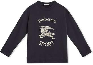 Burberry Archive Logo Print Cotton Sweatshirt