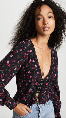 For Love & Lemons Isabella Ruched Top