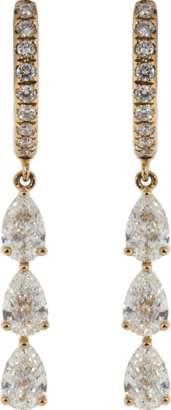Anita Ko Pear Shape Diamond Huggies
