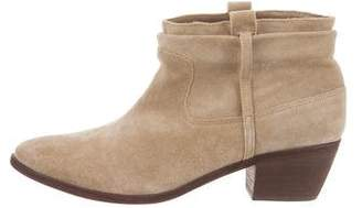 Joie Suede Semi Pointed-Toe Booties w/ Tags