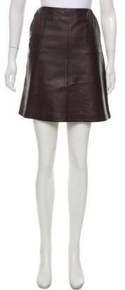Max Mara Weekend Leather-Paneled Mini Skirt