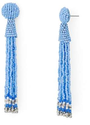 Aqua Fringe Drop Drop Earrings - 100% Exclusive