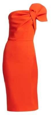 Safiyaa Revanna Strapless Bow Dress