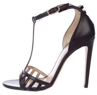 Chloé Gosselin Leather T-Strap Sandals