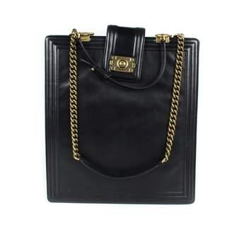 Chanel Boy Tote Black Leather Handbag