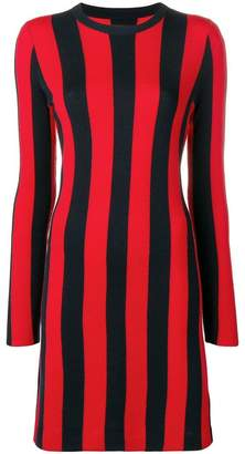 Calvin Klein striped knitted dress