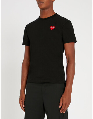Comme des Garcons Heart logo-embroidered cotton-jersey T-shirt