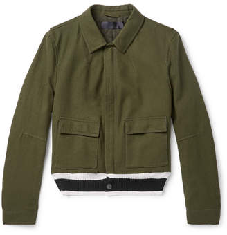 Haider Ackermann Wool Blouson Jacket - Green