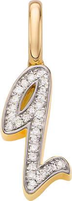 Monica Vinader 18ct yellow-gold vermeil and diamond alphabet pendant q