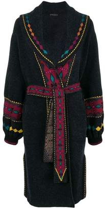 Etro embroidered dressing gown coat