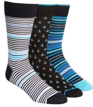 Men's Bugatchi 3-Pack Cotton Blend Socks $49.50 thestylecure.com