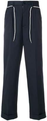 Maison Margiela pinstripe wide leg trousers