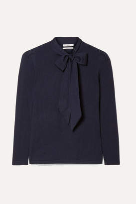 Co Pussy-bow Cashmere Sweater - Navy