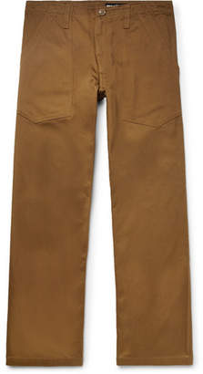 Monitaly Cropped Cotton-Twill Trousers