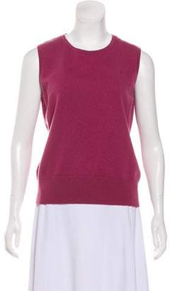 Brooks Brothers Sleeveless Cashmere Top