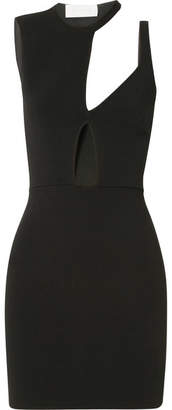 Esteban Cortazar Capri Cutout Stretch-knit Mini Dress - Black