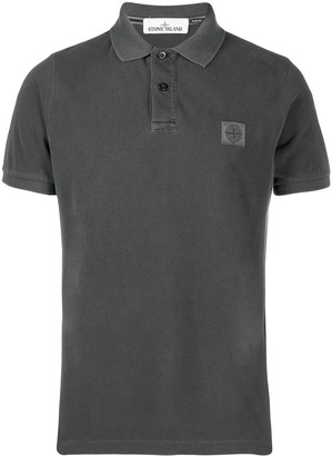 Stone Island chest patch polo shirt