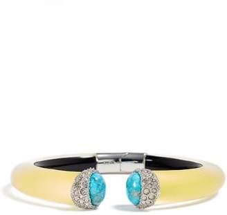 Alexis Bittar Encrusted Double Stone Lucite(R) Hinge Bracelet
