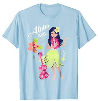 Vintage Hawaiian Hula Girl Shirt Tropical Beach Aloha 1