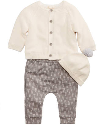 First Impressions 3-Pc. Hat, Cardigan & Tree-Print Pants Set, Baby Boys & Girls, Created for Macy's