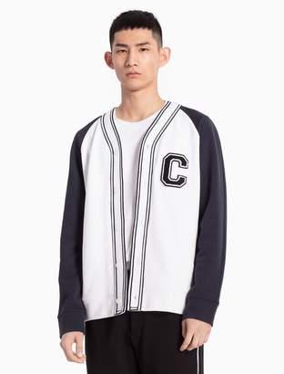 Calvin Klein baseball c-badge cardigan