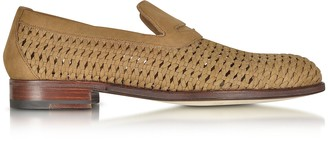a. testoni A.Testoni Brandy Woven Leather Slip-on Shoe