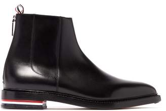 Thom Browne Leather Chelsea Boots - Mens - Black