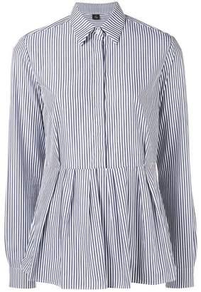 Fay striped peplum shirt