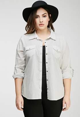 Forever 21 Polka Dot Western Shirt