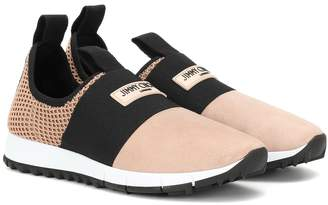 Jimmy Choo Oakland suede and mesh sneakers