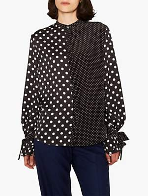 Paul Smith Spot Tie Sleeve Shirt, Black/White