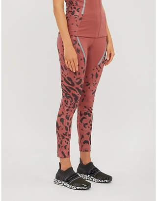 adidas by Stella McCartney Leopard-print stretch-jersey leggings
