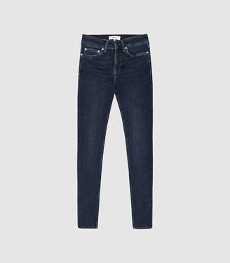 Reiss Lux - Mid Rise Skinny Jeans in Washed Blue