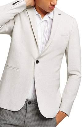Topman Lionis Skinny Fit Textured Sport Coat