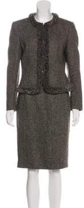 Valentino Wool-Blend Skirt Suit