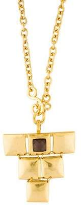 Stephanie Kantis Gold-Tone Crystal Mini Flapper Pendant Necklace