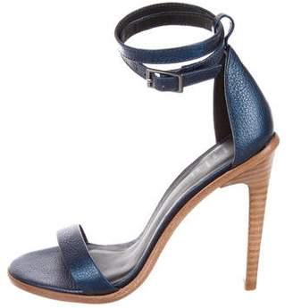 Tibi Metallic Leather Sandals