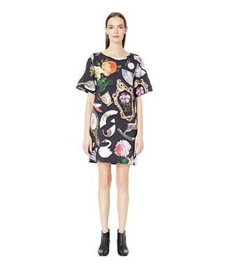 Moschino Short Sleeve Allover Print Shift Dress