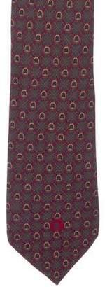 Celine Patterned Silk Tie