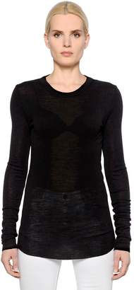 Etoile Isabel Marant Wool Jersey Long Sleeve T-Shirt