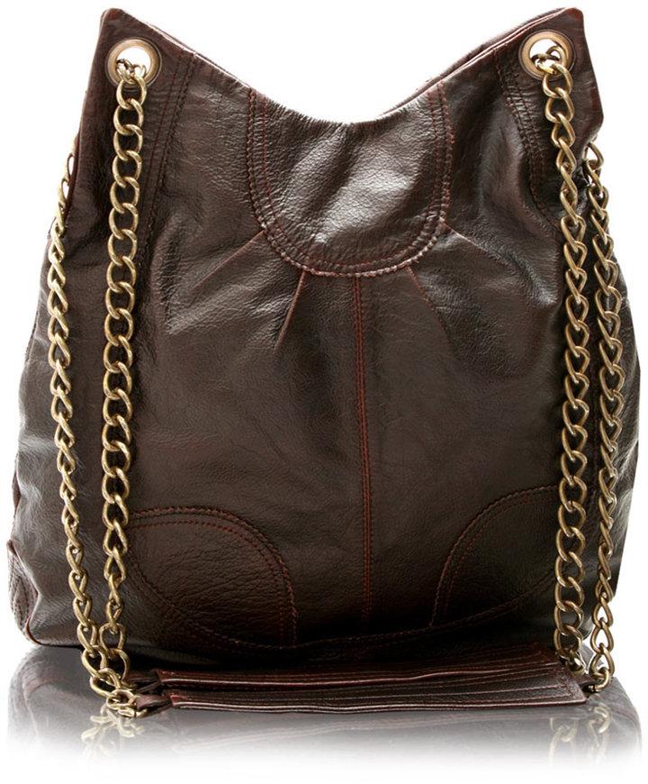 Antik Batik Leather And Chain Bag