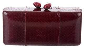 Kotur Snakeskin Box Clutch