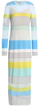 Diane von Furstenberg Striped Cotton-Blend Jersey Maxi Dress