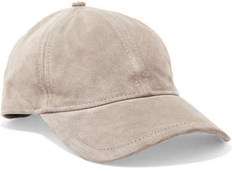 Rag & Bone Marilyn Leather-trimmed Suede Baseball Cap - Gray