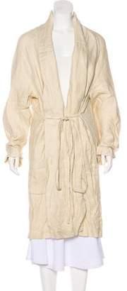 Rosetta Getty Linen Long Coat