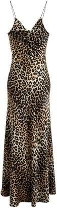 Ganni Leopard-print slip dress