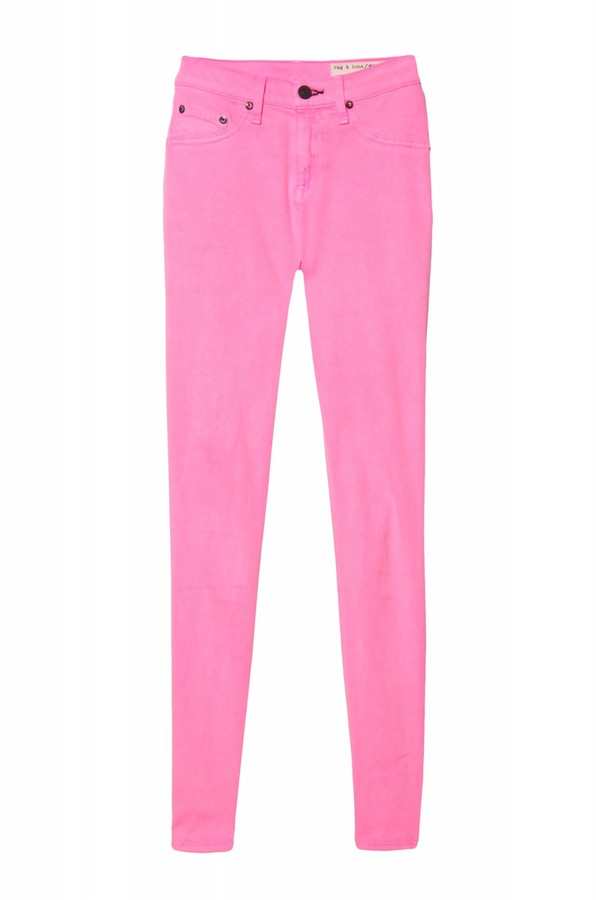 Rag & Bone Twill Legging In Neon Hot Pink