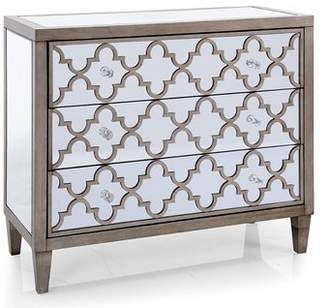 Apsley Rosdorf Park Mirrored 3 Drawer Accent Chest
