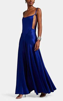 Maison Margiela Women's Crepe Open-Side Gown - Blue